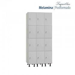 Taquilla 4 puertas Melamina / Postformado