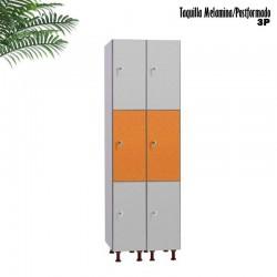 Taquilla 3 puertas Melamina / Postformado